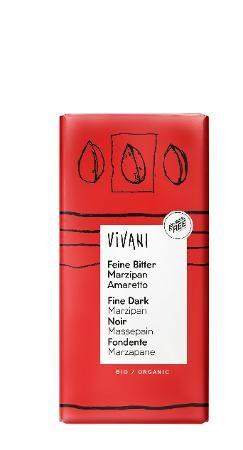 Vivani Feine Bitter Marzipan Amaretto Bio Schokolade, 100g