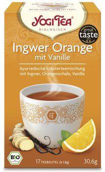 Yogi Tea® Bio Kräutertee Ingwer Orange mit Vanille, 17 Teebeutel