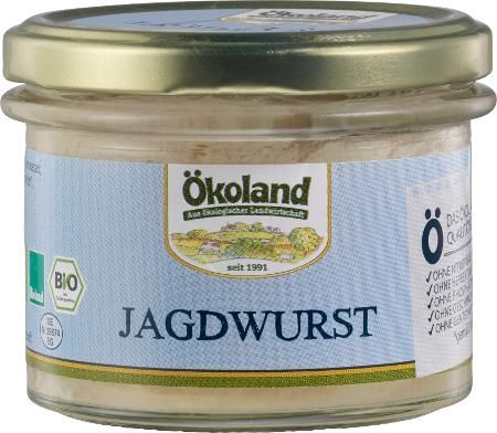 Ökoland Bio Jagdwurst Gourmet-Qualität, 160g