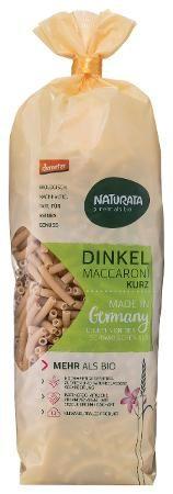 Naturata Bio Dinkel-Maccaroni kurz hell, 500g