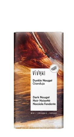 Vivani Dunkle Nougat Bio Schokolade, 100g