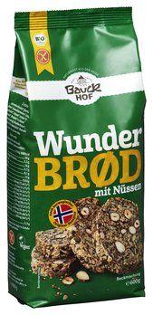 Bauckhof Bio Brotbackmischung Wunderbrod mit Nüssen, glutenfrei, 600g