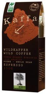 Kaffa Bio Wildkaffee, Espresso, ganze Bohne, 250g