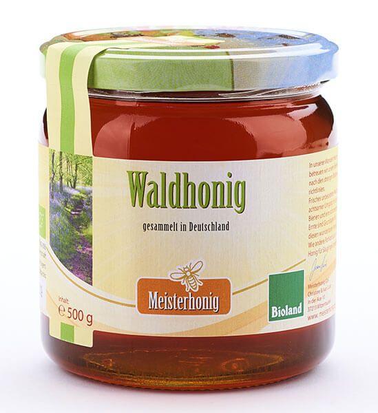 Meisterhonig Bio Waldhonig flüssig aus Deutschland, 500g