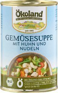 Ökoland Gemüsesuppe mit Huhn und Nudeln, 400g