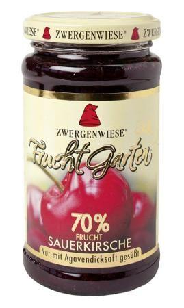 Zwergenwiese FruchtGarten Bio Sauerkirsche, 225g
