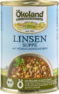 Ökoland Linsensuppe mit Würstchenscheiben, 400g