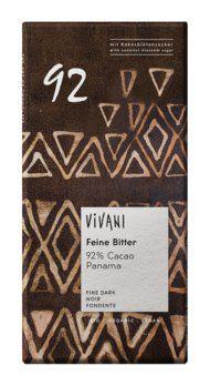 Feine Bitter Schokolade 92 % Cacao Panama mit Kokosblütenzucker